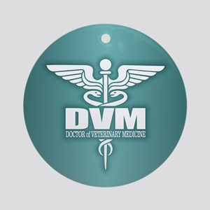 Caduceus DVM Ornament (Round)