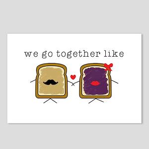 We go Together Like PB&J Postcards (Package of 8)