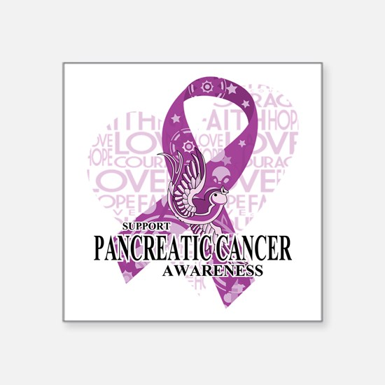 Pancreatic Cancer Love Hope Bird Sticker