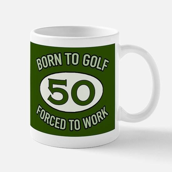 50th Birthday Golf Mugs