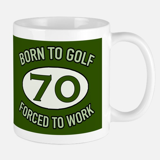 70th Birthday Golf Mugs