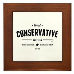 Proud Conservative American Framed Tile