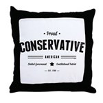 Proud Conservative American Throw Pillow