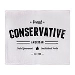 Proud Conservative American Throw Blanket