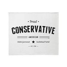 Proud Conservative American Throw Blanket