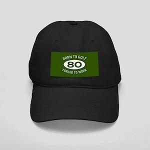 80th Birthday Golf Black Cap