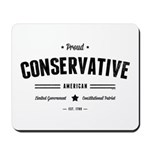 Proud Conservative American Mousepad