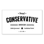 Proud Conservative American Sticker