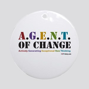 Agent of Change Ornament (Round)