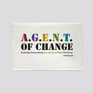 Agent of Change Rectangle Magnet