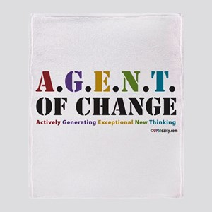 Agent of Change Throw Blanket