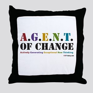 Agent of Change Throw Pillow