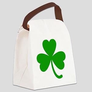 3 Leaf Kelly Green Shamrock with  Canvas Lunch Bag