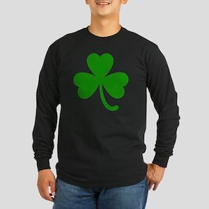 3 Leaf Kelly Green Shamro Long Sleeve Dark T-Shirt