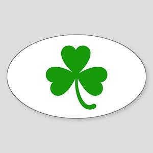 3 Leaf Kelly Green Shamrock with Stem Sticker