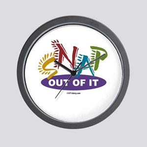 Snap Out of It Wall Clock
