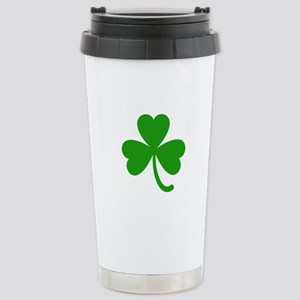 3 Leaf Kelly Green Sham Stainless Steel Travel Mug