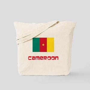 Cameroon Flag Retro Red Design Tote Bag