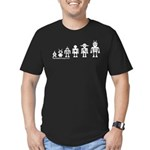 Robot Evolution Men's Fitted T-Shirt (dark)