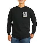 Jacquard Long Sleeve Dark T-Shirt