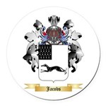 Jacobs 2 Round Car Magnet