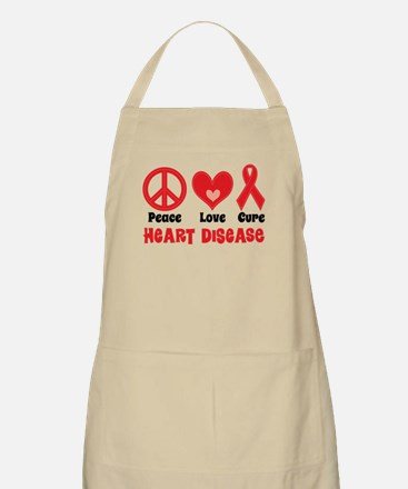 Heart Disease Slogan Apron