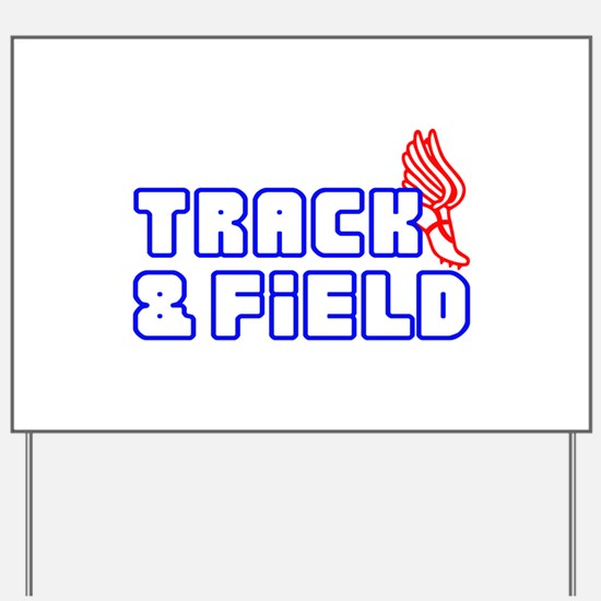 OPEN TRACK AND FIELD WITH SHOE Yard Sign