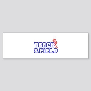 OPEN TRACK AND FIELD WITH SHOE Bumper Sticker