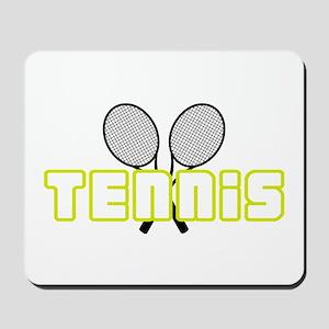 OPEN TENNIS W RAQUETS Mousepad