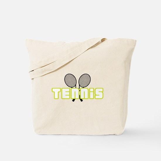 OPEN TENNIS W RAQUETS Tote Bag