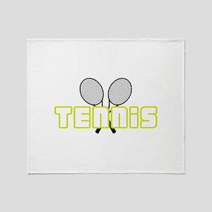 OPEN TENNIS W RAQUETS Throw Blanket