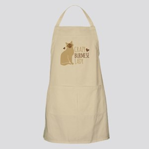 Crazy Burmese CAT Lady Apron