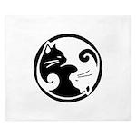 Yin-Yang-Cat King Duvet