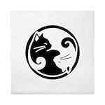 Yin-Yang-Cat Queen Duvet