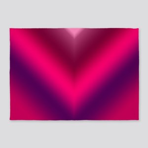 Hot Pink, Purple V 5'x7'Area Rug
