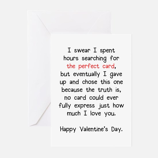 The Perfect Valentine's Day Card Greeting Cards