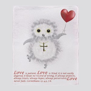Flying Valentine With Corinthians 13 Throw Blanket