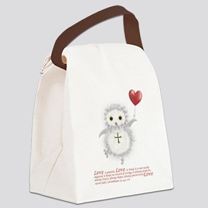 Flying Valentine With Corinthians Canvas Lunch Bag