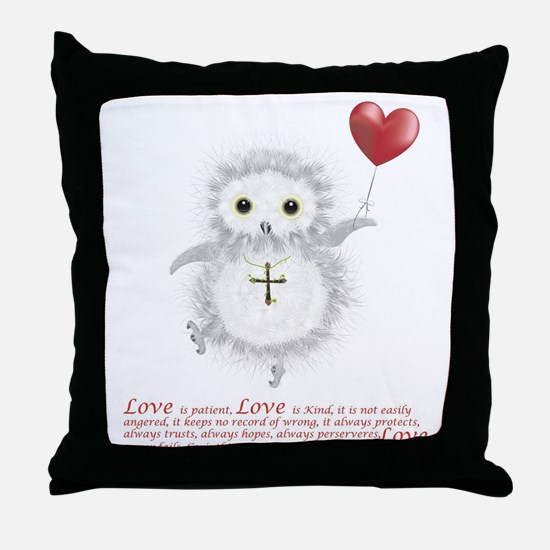 Flying Valentine With Corinthians 13: Throw Pillow