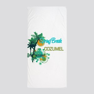 Palm Trees Circles Spring Break COZUM Beach Towel