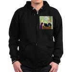 Social Media Farm Games Zip Hoodie (dark)