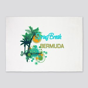 Palm Trees Circles Spring Break BE 5'x7'Area Rug