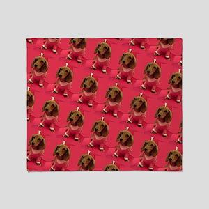 Pink Arizona Dachshund Mirage for Je Throw Blanket