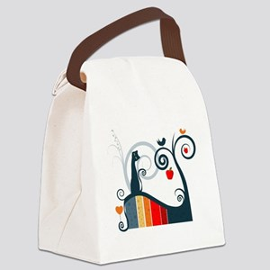Whimsical and Birds Canvas Lunch Bag