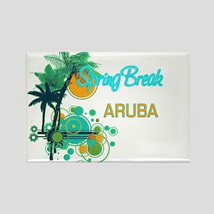 Palm Trees Circles Spring Break ARUBA Magnets