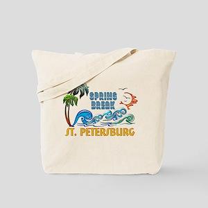 3D Palms Waves Sunset Spring Break ST PET Tote Bag