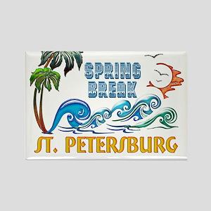 3D Palms Waves Sunset Spring Break ST PETE Magnets