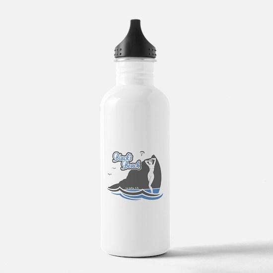 Blacks Beach Gray and Blue Water Bottle