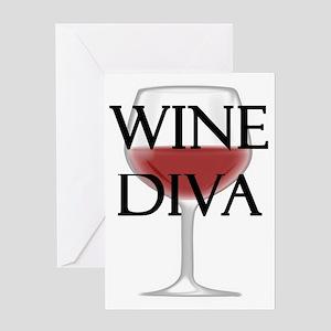 Wine Diva Greeting Card