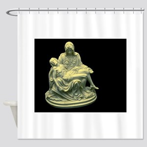 virgin mary jesus christ christian Shower Curtain